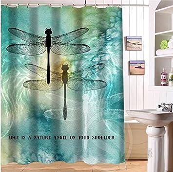 Interesting Dragon Fly Shower Curtain. Balabala Fun BCK Vintage Dragonfly Custom Shower Curtain 66  quot x72 Waterproof Fabric