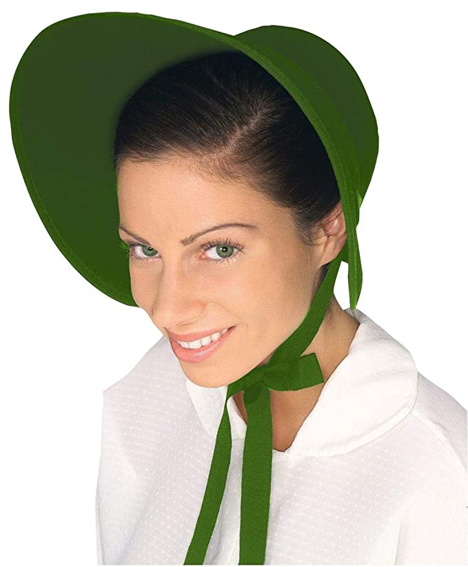 Victorian Hat History | Bonnets, Hats, Caps 1830-1890s Forum Novelties Costume Bonnet - Green - Onesize $11.54 AT vintagedancer.com