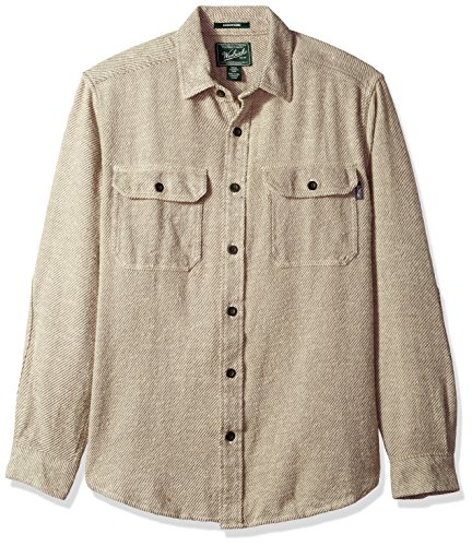 Woolrich Men's Oxbow Bend Flannel Shirt, Gray, Large - Heavyweight Flannel