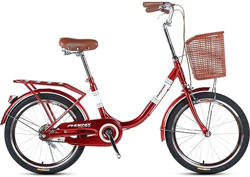 ZLXLX Bicicleta para Mujeres Adultas de 20 Pulgadas, Liviana ...