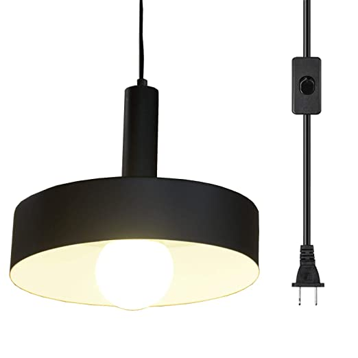 Ganeed Plug In Pendant Lights Industrial Vintage Hanging Lamp Swag Lighting Island Kitchen Farmhouse Chandelier Light Fixtures With 16 4ft Cord