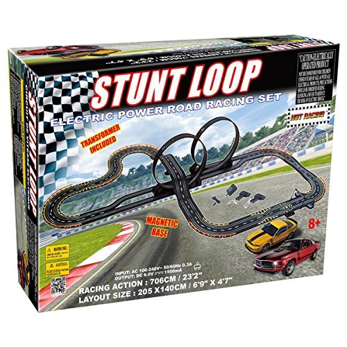 Golden Bright Electric Power Stunt Loop Road Racing Set