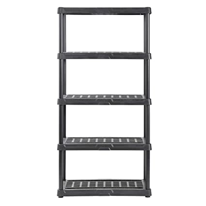 Incredible Amazon Com 5 Shelf Resin Storage Shelving Chemical Interior Design Ideas Lukepblogthenellocom