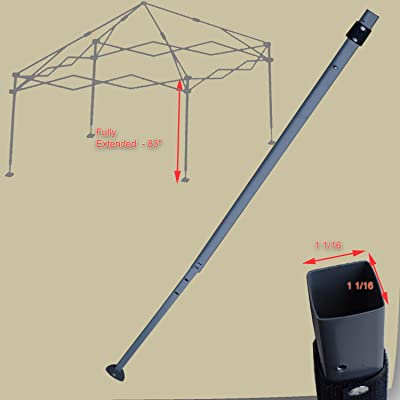 for Coleman 10' x 10' Straight Leg Instant Canopy Gazebo 2 Pieces EXTENDED ADJUSTABLE LEG Replacement Parts: Garden & Outdoor