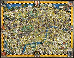London Town Map.Gill S Wonderground Map Of London Town 1914 Amazon Co Uk