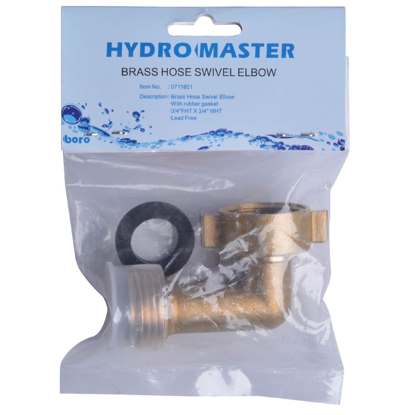 "B07S85ZZ4P HYDRO MASTER 0711801 90 Degree Garden Hose Elbow with Lead Free Brass 3/4"" FHT x 3/4\"" MHT 612UiOvBAuL"