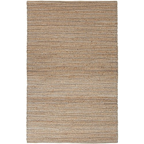 Diva At Home 3.5' x 5.5' Beige and Sky Blue Naturals Canterbury Hand Woven Area Throw Rug