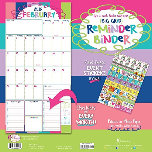 2018 Reminder Binder Albright Wall Calendar Photo #4