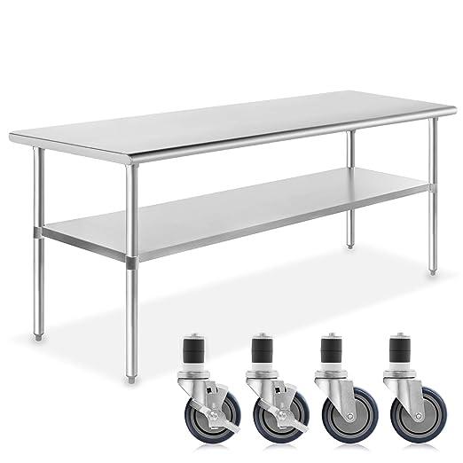 gridmann NSF comercial de acero inoxidable cocina Prep y de mesa ...