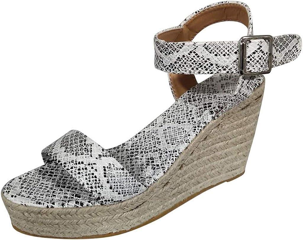 DOLDOA Sandales Bout Ouvert Femme Chaussurees compensées