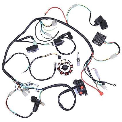 Amazon.com: ZXTDR Wiring Harness kit Wire loom | Complete Electrics on 4 stroke exhaust, 4 stroke engine timing, 4 stroke tuning, 4 stroke fuel injection, 4 stroke spark plug color, 4 stroke diagram, 4 stroke motor, 4 stroke engine firing order,
