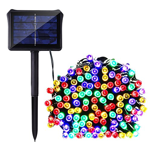 Children Solar Garden Light - Icicle Dual Power String Lights Outdoor, 72 Ft 8 Modes 200 LED Waterproof Battery & Solar String Lights for Indoor/Outdoor, Garden, Patio, Fence and Holiday Decorations(Multi Color)