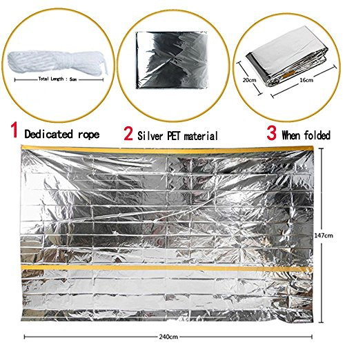 OUSPOTS-Emergency-Survival-Shelter-Tent-Emergency-Weather-Tube-Tent-2-Person-Silver-Mylar-Thermal-shelter-Waterproof-Reflective-Retain-Body-Heat