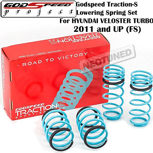 Godspeed (LS-TS-HI-0006) Traction-S Lowering Spring Set For Hyundai Veloster Turbo 2011-2016 FS gsp set kit