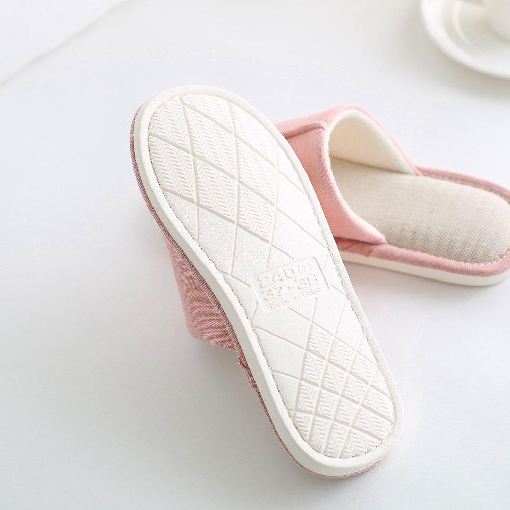 mianshe Pantofole in Stoffa di Canapa,Ciabatte da Unisex Adulto Pantofole Pantofole Pantofole da Uomo da Donna Blu f55686