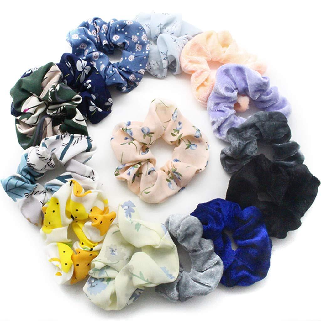 Headdress Cloth Bun Maker Faux Flower Ponytail Holder Girls Hair Ropes Headwear