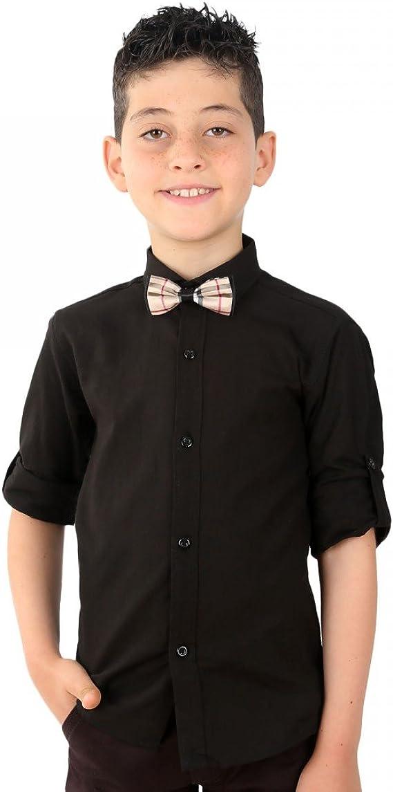 Boys Linen White Shirts Kids Summer Long Sleeve Shirts Roll Up Sleeve Boy Shirt