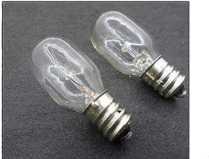 NGOSEW 2 Clear Screw in Light Bulbs for Juki Serger Overlock MO103, MO134, MO-623, MO-104D, MO-634D, MO-644D, MO-654DE, MO-655