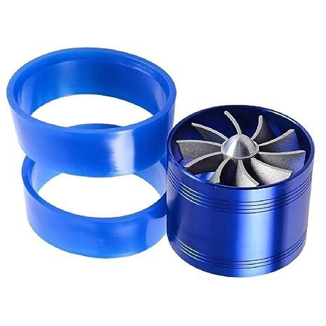 Super Power único ventilador turbina cargador de Turbo Supercharger aire Gas Fuel Saver Fan para Universal