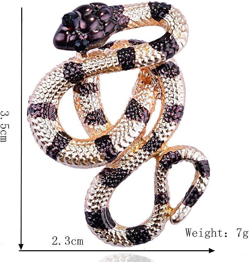 Vintage Rhinrstone Snake Pin Broach