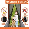 "Magnetic Screen Door. Fits Door Openings up to 34""x82"" MAX , Reinforced With Full Frame Velcro to Ensure Bugs & Mosquitoes Are Kept Out , Pet Friendly, Toddler Friendly from May-One"