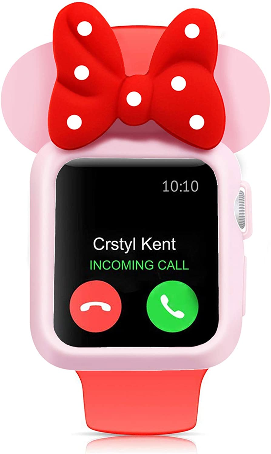 SEANADO 38mm Apple Watch Case, Unity Series Premium Protective Bumper Case compatible iWatch Series 3, Series 2, Series 1 Newest Released(Pink-Red)