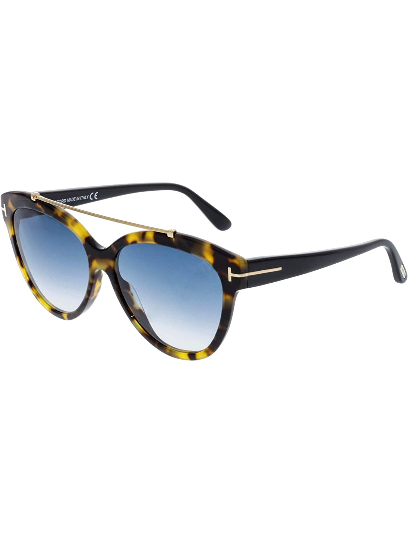 685acbbc879c5 Amazon.com  Tom Ford FT0518 56W Shiny Havana Livia Cats Eyes Sunglasses  Lens Category 2 Siz  Tom Ford  Clothing