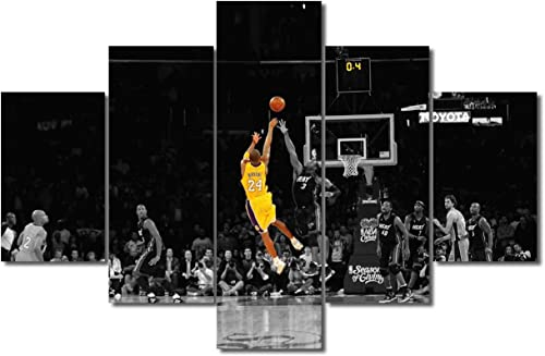 Large Canvas Art Prints Kobe Bryant's Game-Winning Shot Picture Forever Legend Inspirational Art