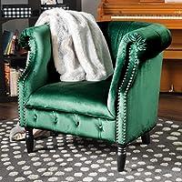 Aries New Velvet Tub Style Club Chair (Emerald)
