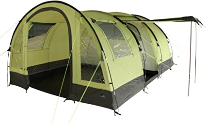 10T CAMPING ZELT Leighton 4 Tunnelzelt mit Schlafkabine für
