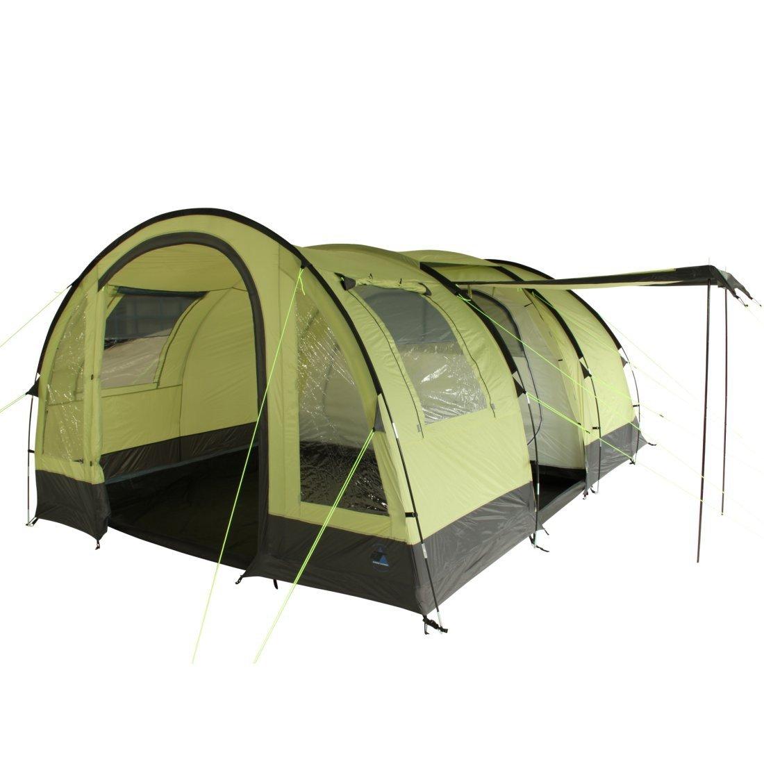 10T Camping-Zelt Devonport 5 Tunnelzelt mit Schlafkabine für 5 Personen Outdoor Familienzelt mit Wohnraum, Zelt Belüftung, eingenähte Bodenwanne, wasserdicht mit 5000mm Wassersäule
