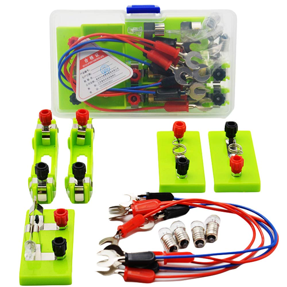 Physical Experiment Equipment Simple Circuit Closure Experiment Box Concatenation In Parallel Light The Small Bulb Experiment Equipment Children's Assembly Science Physical Experiment AA Battery Ke-mixer