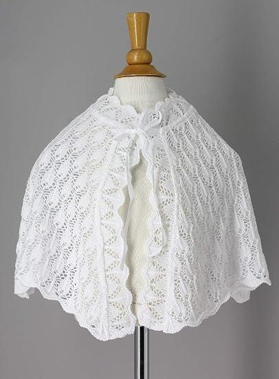 Boutique-Magique Cape de baptême Crochet Blanche bébé ou Petite Fille 646b2249d4f