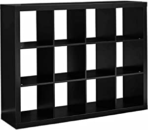 Better Homes and Gardens 12-Cube Organizer (12-Cube, Solid Black)