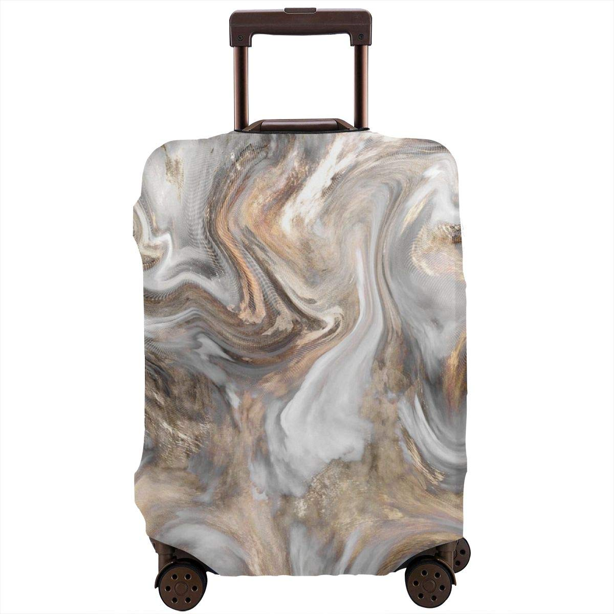 Luggage Cover Marble Retro Style Marbling Golden Protective Travel Trunk Case Elastic Luggage Suitcase Protector Cover