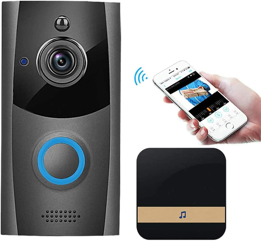 Wireless Video Doorbell, Innotic Free Cloud Storage Smart Doorbell with Chime, 720P HD WiFi Security Camera, Two-Way Talk, PIR Motion Detection & Video Night Vision, App Remote Control for iOS/Android