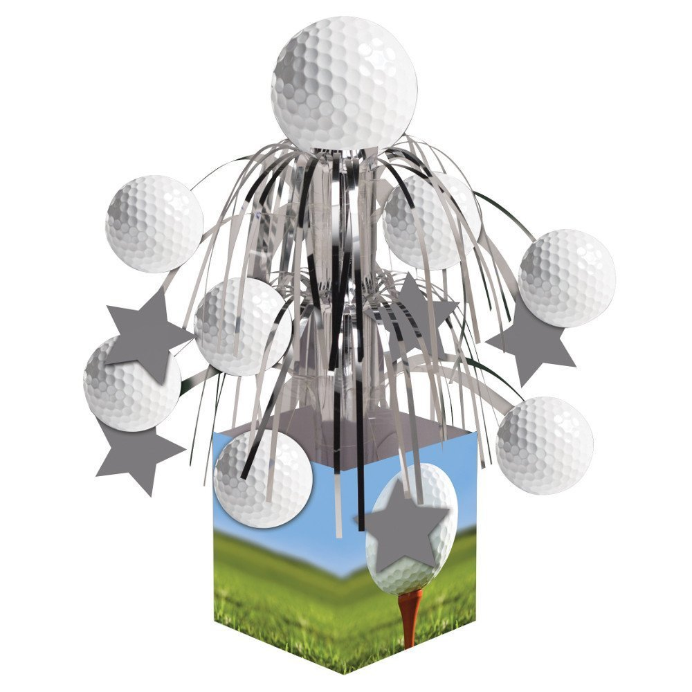 Creative Converting Sports Fanatic, Golf Centerpiece with Mini Cascade and Base, White (2-Pack)
