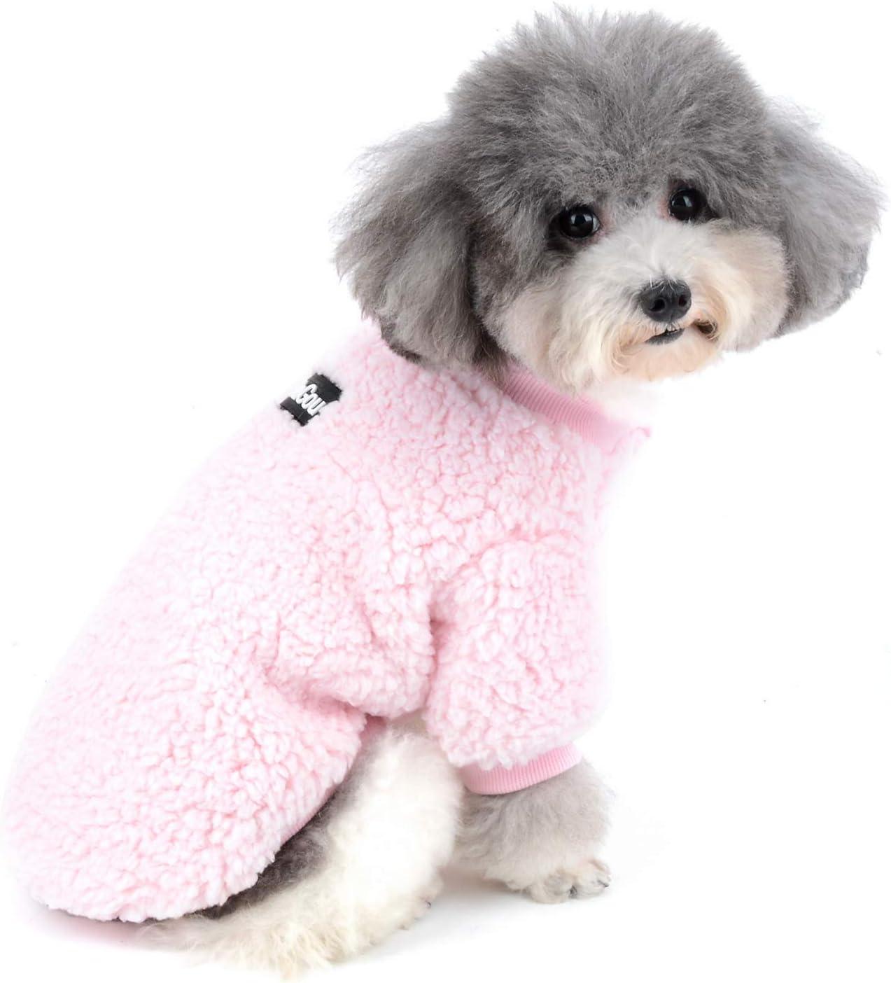 warm weiche Fellkapuze f/ür Chihuahua Wintermantel f/ür kleine Hunde