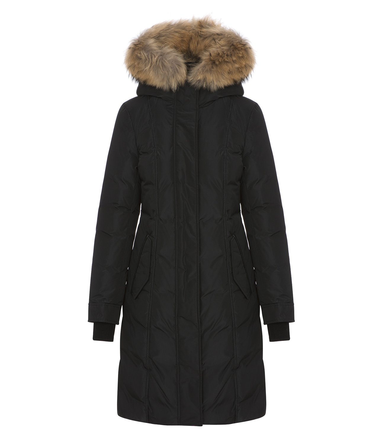 Mackage Ladies Fur Hooded Down Parka, harlin, Black (X-Small)
