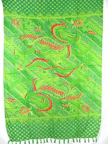 Sarong Pareo Kaya Wickelrock Hellgrün
