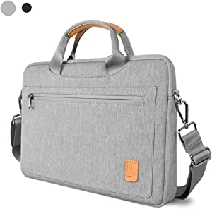 Laptop Shoulder Bag for 16-inch MacBook Pro 2019, 15 Inch MacBook Pro Retina, Waterproof Laptop Carrying Case for Dell XPS 15, 15 Inch Microsoft Surface Book 2,ThinkPad X1Extreme Gen 2 (gray)