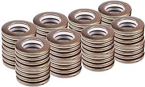 """64 Pack Curtain Grommets,CENGOOD Inner Diameter 1-9/16""""(4cm) Silencer Sliding Ring ABS Plastic Brown"""