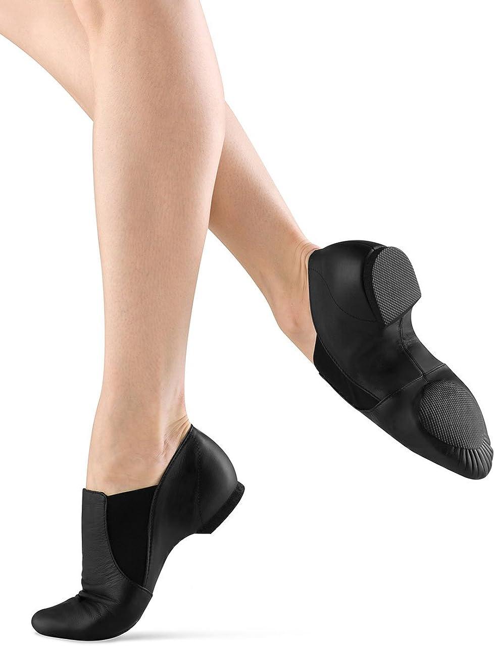 Bloch Dance Girls Elasta Bootie Leather and Elastic Split Sole Jazz Shoe