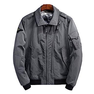Accessoires Veste Manches Lapel Jacket Longues Et Vêtements Homme Manteau Bomber Flight Blouson Light Niseng OHwqAA