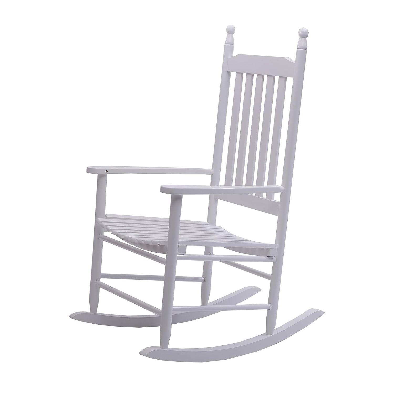 DESIGN DELIGHTS Sedia a dondoloAuvergne | legno massiccio, bianco | poltrona, sedia da giardino xtradefactory