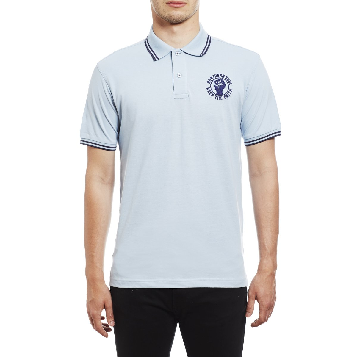 Northern Soul Keep The Faith Embroidered Polo Shirt - Polo para ...