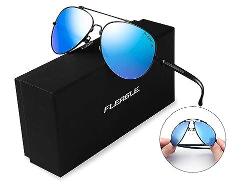 442187f220409 Amazon.com  Polarized Blue Aviator Sunglasses for Women