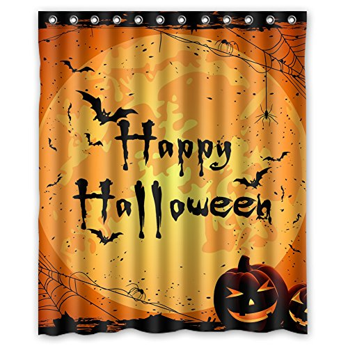Halloween Shower Curtains - Happy Halloween Design Waterproof Polyester Fabric Bathroom Shower Curtain 60 inch x 72 inch