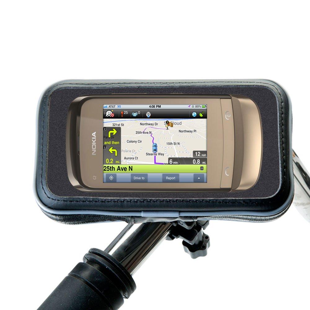 Heavy Duty Weather Resistant自転車/オートバイハンドルマウントホルダーDesigned for the Nokia c2-o3   B00U0AQA54