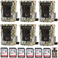 Six Browning BTC9D Defender 850 Wifi / Bluetooth Trail Game Cameras (20MP) & Six 32Gb Cards w. Focus Reader